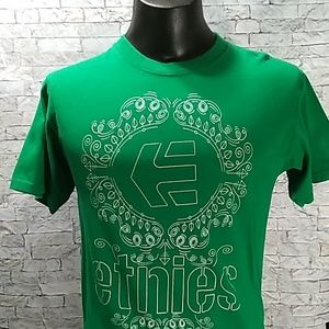 Etnies sz M Short Sleeve T-shirt Green
